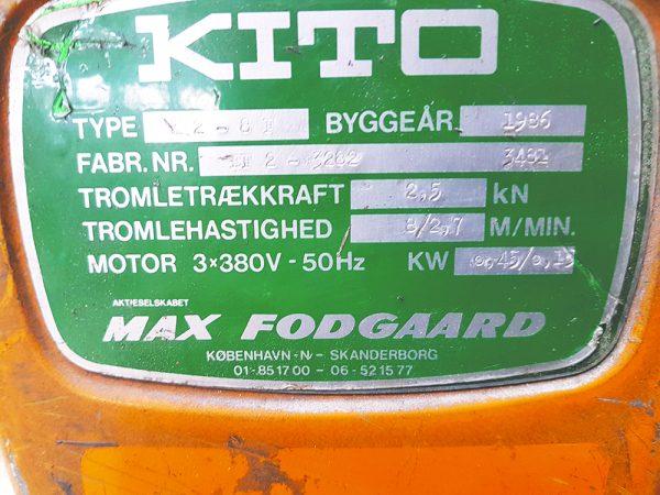 Kito - kædetalje 500 kg 3 21