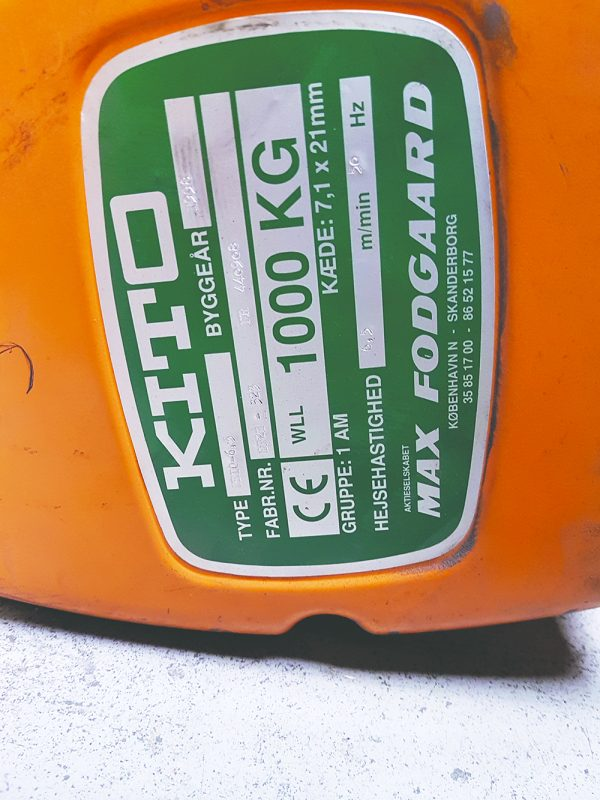 Kito - kædetalje 6 stk 1000 kg 4 18