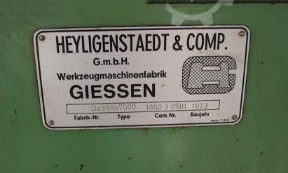 HEYLIGENSTAEDT drejebænk Da 560 x 7500 HY3