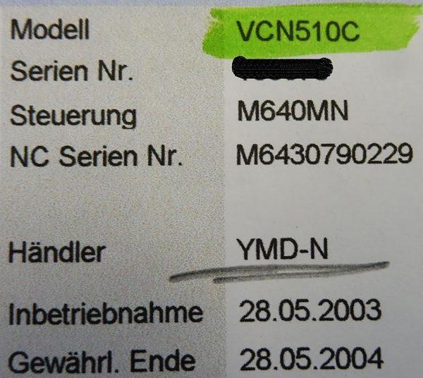 MAZAK NEXUS VCN 510 C vertikalt bearbejdningscenter Mazak Nexus 510 C 3