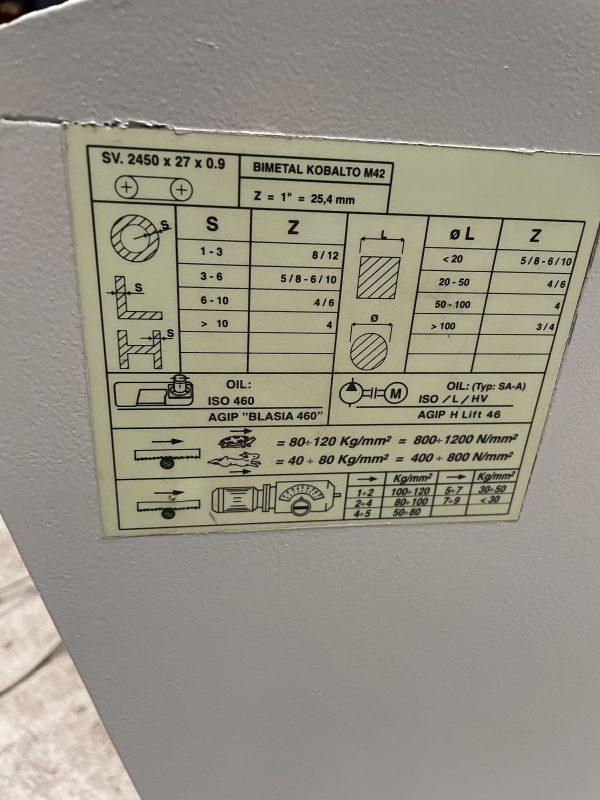 Brugt BIANCO 280 SA halv Automatisk båndsav SHV 3 17 scaled