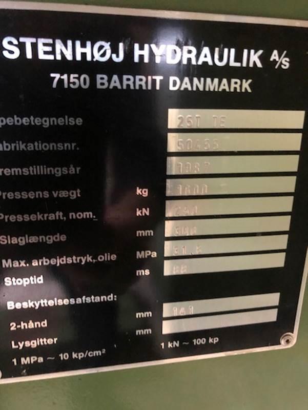 Stenhøj Hydraulisk presse 25 tons SHV 4 2 1