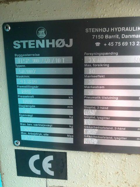 STENHØJ LP 100/40/10 T Hydraulic Press SHV 4 rotated 1