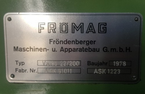 FROMAG VARI 22/200 Broaching Machine SHV 6 3